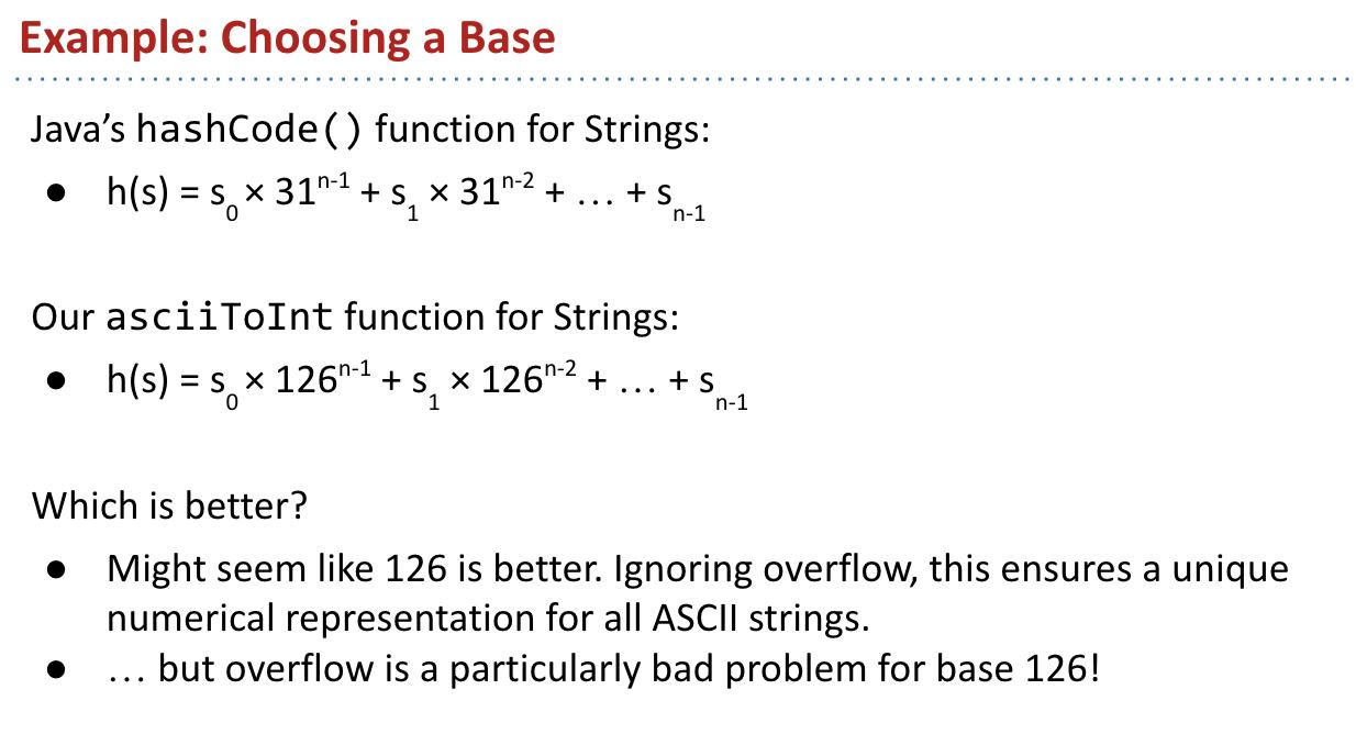 Example: Choosing a Base