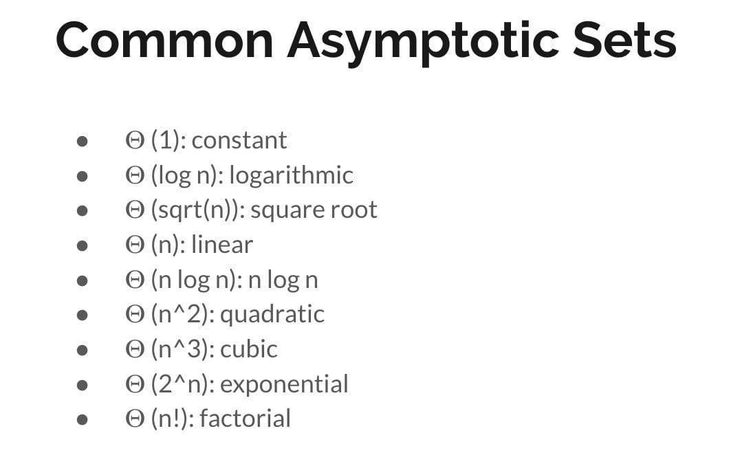 Common Asymptotic Sets