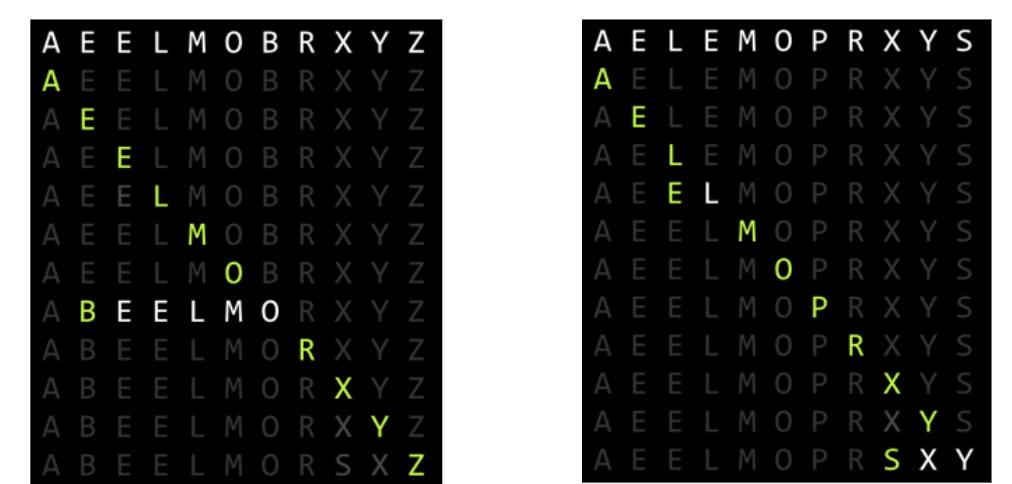 Left array & Right Array