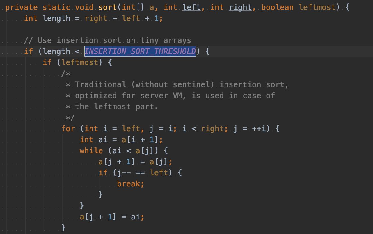 Real-word Sort Implementation in Java