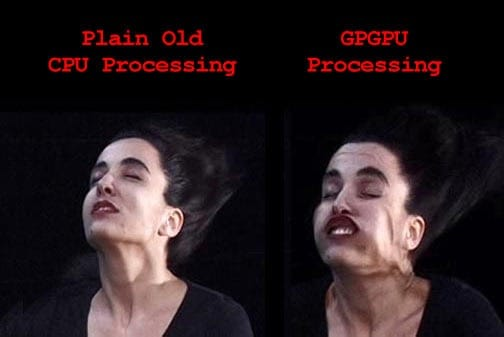 Comparison between CPU and GPU (source is attached)