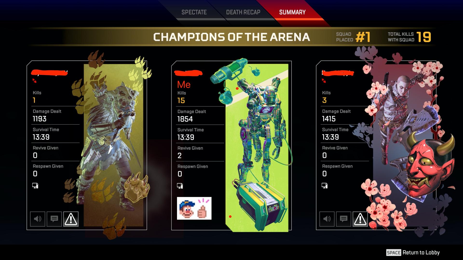 Pathfinder: We are the champion squad!